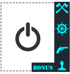 power icon flat vector image