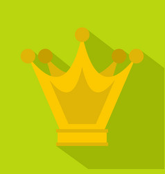 Princess crown icon flat style vector