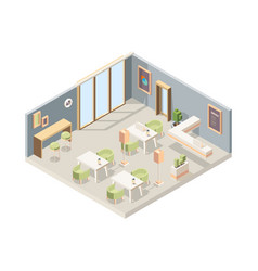 restaurant isometric cafe modern interior vector image