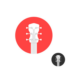 Round simple guitar neck icon on white vector