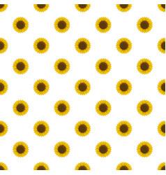 round sunflower pattern seamless vector image