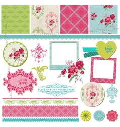 Scrapbook Design Elements - Vintage Flower Card vector