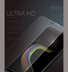 Screen protector film or glass cover vector