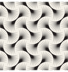 Seamless Black and White Arc Lines Grid vector image