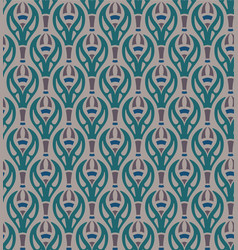 Seamless pattern with stylised flowers vector
