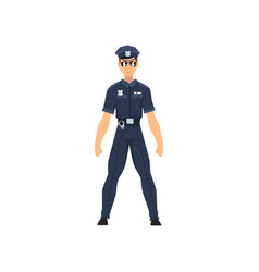 Security police officer professional policeman vector