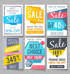 Shopping sale backgrounds retail vector