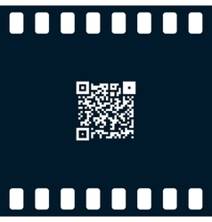 Simple icon QR code vector image
