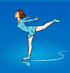 Skater girl pop art style vector