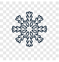 Snowflake concept linear icon isolated on vector