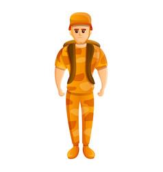 Soldier desert uniform icon cartoon style vector