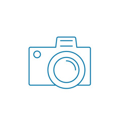Study of photography linear icon concept study of vector