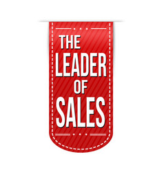 the leader of sales banner design vector image