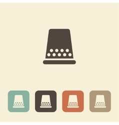 Thimble for sewing and needlework icon vector