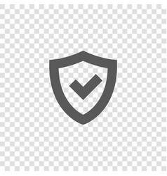 tick mark in shield icon vector image
