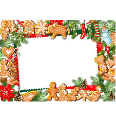 Traditional christmas greeting template with vector