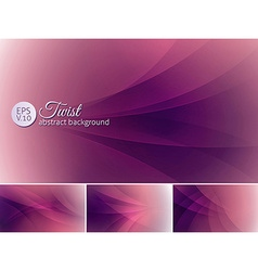Twist abstract background a set background vector