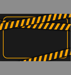 Warning or caution tape on black background vector