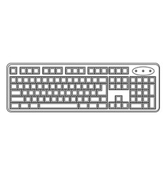 white computer keyboard icon vector image