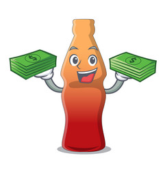 With money bag cola bottle jelly candy mascot vector
