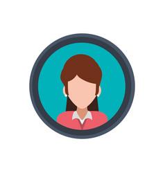 woman faceless portrait picture vector image