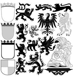 Heraldry design elements vector image