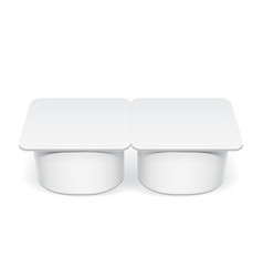 realistic white plastic container for yogurt vector image vector image