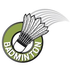 badminton label vector image vector image