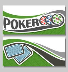 banner for poker game vector image