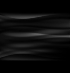 Black wave abstract background vector