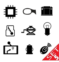 car part icon set 5 vector image vector image