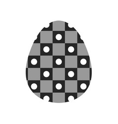easter egg black and white flat icon for holiday vector image vector image