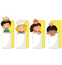 Kids and board templates vector image