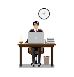 Workplace businessman vector image