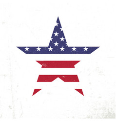 american flag in star shape patriotic design vector image vector image