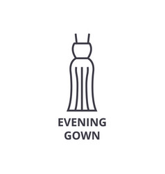 evening gown line icon outline sign linear vector image vector image