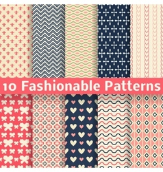 Fashionable seamless patterns tiling Retro vector image vector image