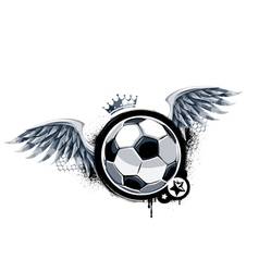 Graffiti image with soccer ball vector image