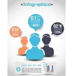 Infographics demographics people ranking vector