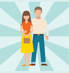 people happy couple cartoon relationship vector image
