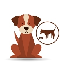 veterinary dog care food icon vector image vector image