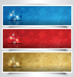 Christmas bauble headers vector