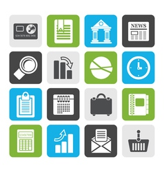 Flat Business and Office Realistic Internet Icons vector image