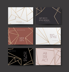 a series of designs with gold lines on a white vector image