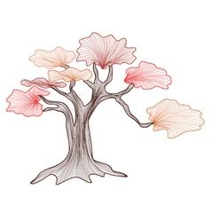 Abstract bonsai tree vector