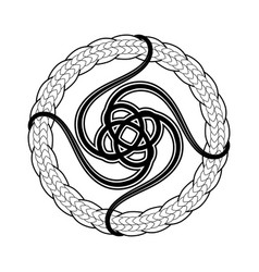 Abstract celtic print or tattoo design vector