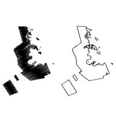 Ad-dawhah state qatar municipalities qatar vector