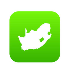 african map icon green vector image