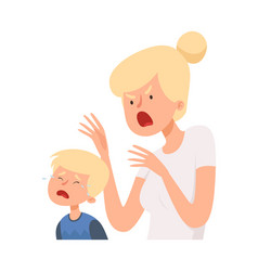 angry woman baboy crying female screaming vector image