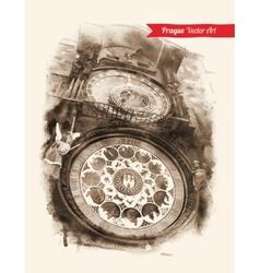 Astronomical Clock Prague vector image